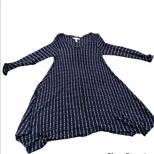 JESSICA SIMPSON KNITTED STRIPED TUNIC DRESS